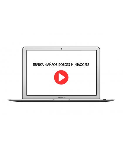 Видеоинструкция по правке файлов robots и htaccess
